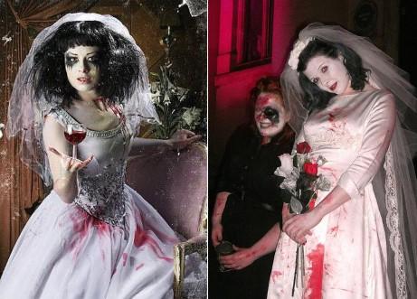 кровавые пятна на костюме мёртвой невесты