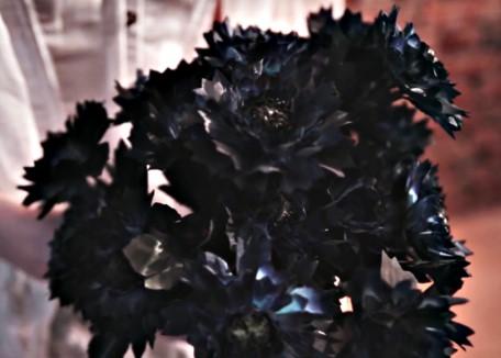 чёрный букет для хэллоуина