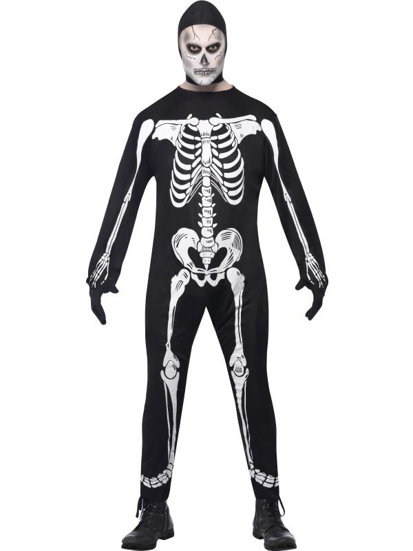 Костюм скелета (комбинезон с нарисованными костями)