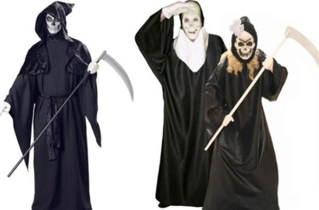 костюм смерти с поясом и без пояса