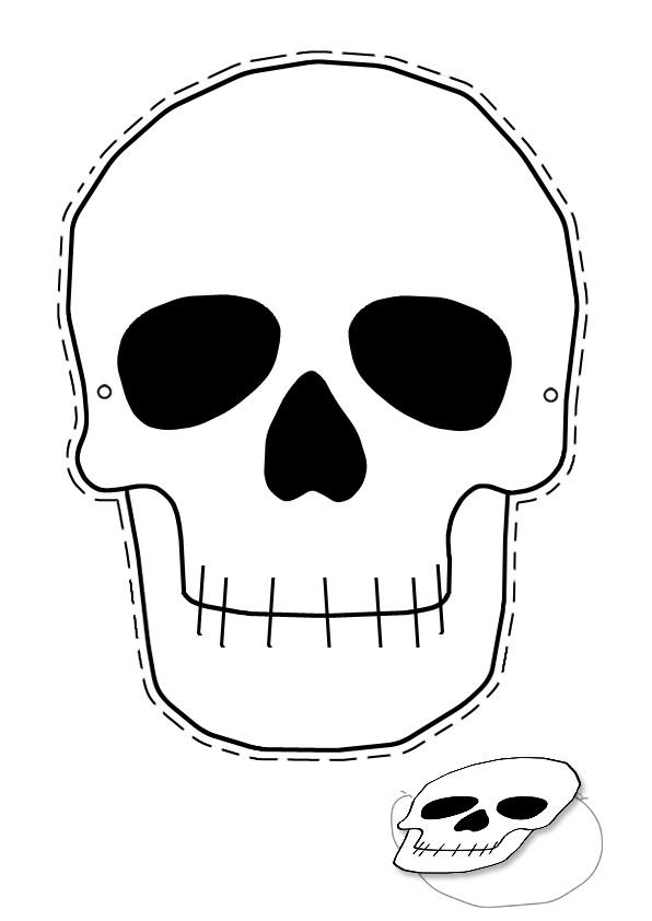 маска скелета своими руками: рисунок и трафарет